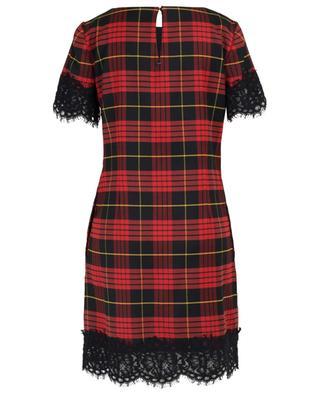Kurzes Kleid mit Tartanmotiv und Spitze TWINSET