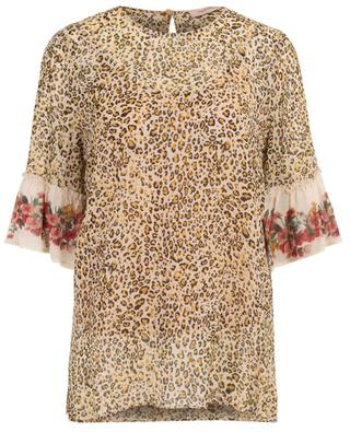 Breezy floral and leopard print top TWINSET