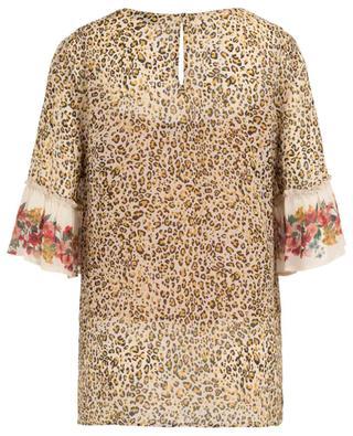 Top fluide imprimé léopard et fleurs TWINSET