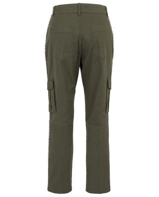 Pearl and crystal embroidered cargo trousers TWINSET