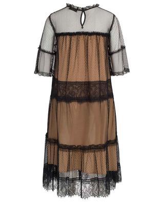 Zweifarbiges A-förmiges Kleid aus Spitze TWINSET