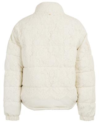Guipure adorned down jacket TWINSET
