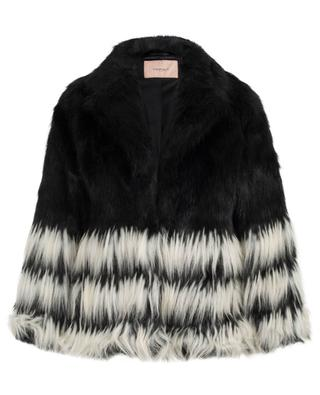 Bicolour faux fur jacket TWINSET