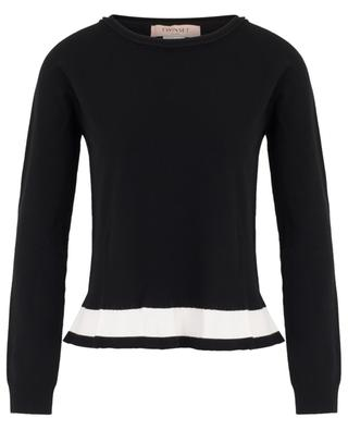 Jumper with contrasting peplum TWINSET