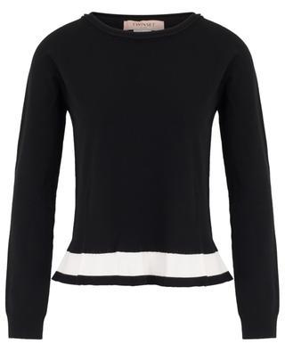 Pullover mit kontrastierendem Schoss TWINSET