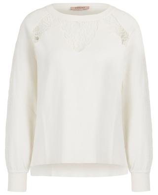 Jumper with raglan sleeves and lace TWINSET