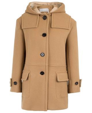 Manteau court en laine vierge et mohair CHLOE