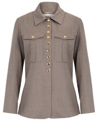 Veste légère en laine stretch Military CHLOE