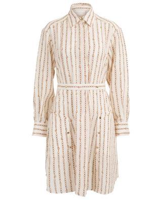 Hemdkleid aus Seide mit Kettenprint CHLOE