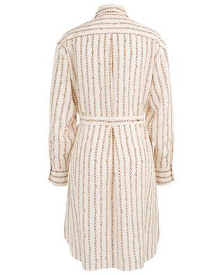Robe chemise en soie imprimé chaînes CHLOE