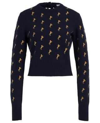 Horse embroidered wool jumper CHLOE