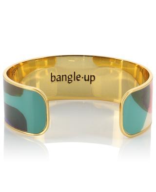 Aqua enameled cuff BANGLE UP