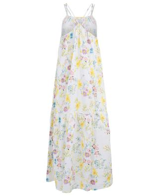 Floral linen maxi strappy dress 120% LINO