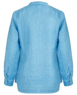 Ausgewaschene Bluse mit Biesen 120% LINO