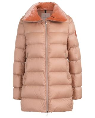 Torcon down jacket with stand-up collar and velvet details MONCLER