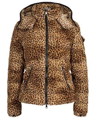 Leopard print velvet down jacket MONCLER