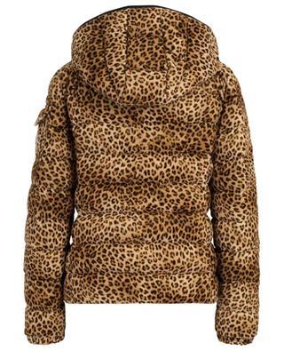 Daunenjacke aus Samt mit Leopardprint MONCLER