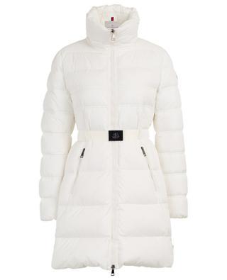 Accenteur long flared belted down jacket MONCLER