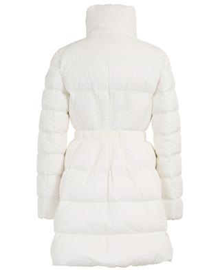 Accenteur long flared belted down jacket MONCLER