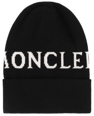 Bonnet en jacquard détail logo MONCLER