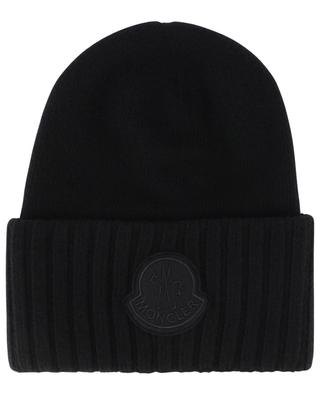Mütze aus dicker Schurwolle mit Logodetail MONCLER