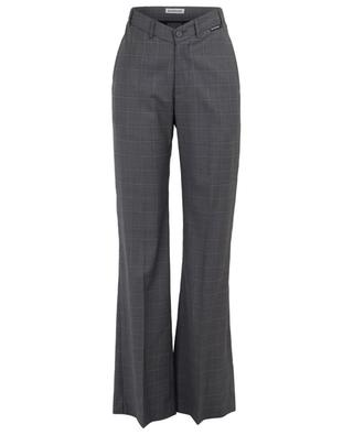 V-Neck checked wide-leg trousers BALENCIAGA