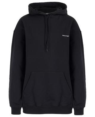 Hooded logo print sweatshirt BALENCIAGA