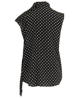 Sleeveless asymmetrical polka dot top BALENCIAGA