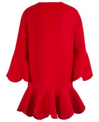 Mantel aus Wolle und Kaschmir mit welligen Rüschen VALENTINO