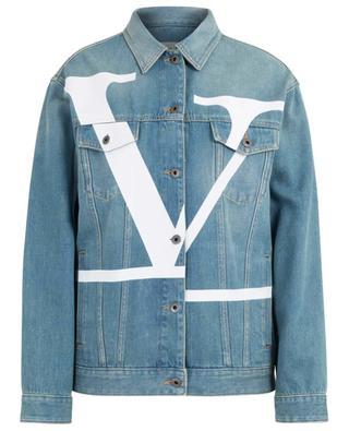 Jeansjacke mit destrukturiertem VLOGO VALENTINO