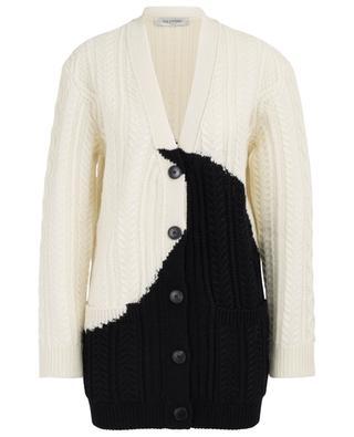 Luna cable-knit virgin wool cardigan VALENTINO