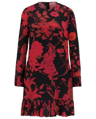 Floral printed short silk dress VALENTINO