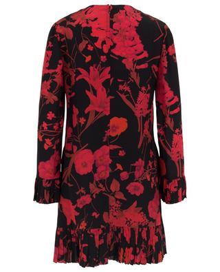 Geblümtes kurzes Kleid aus Seide VALENTINO