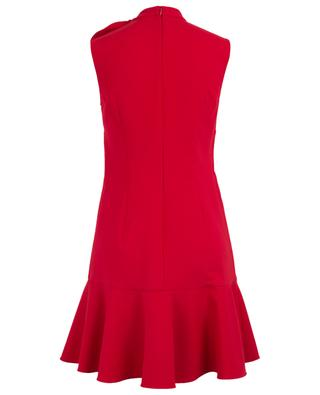 Wool mini dress with peplum and bow VALENTINO