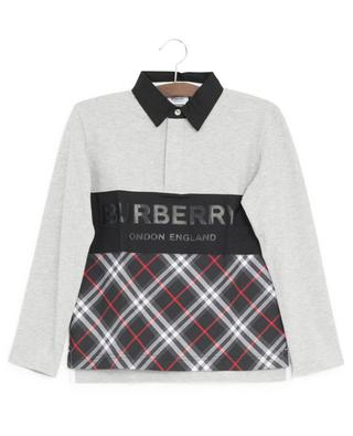 Quentin bi-material long-sleeved polo shirt BURBERRY