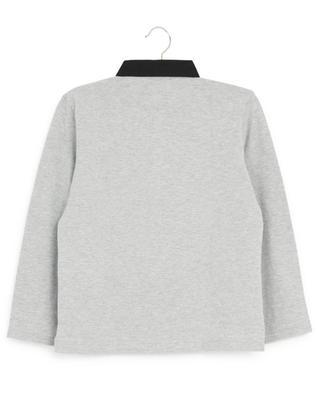 Quentin bi-material long-sleeved polo shirt BURBERRY