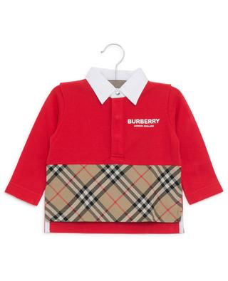 Mini Quentin piqué cotton polo shirt BURBERRY