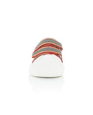 Ledersneakers mit gestreiften Klettbändern Ray BURBERRY