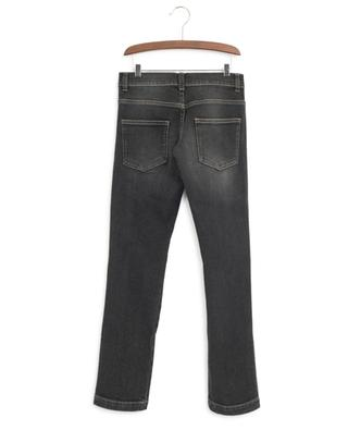 FF band faded black jeans FENDI