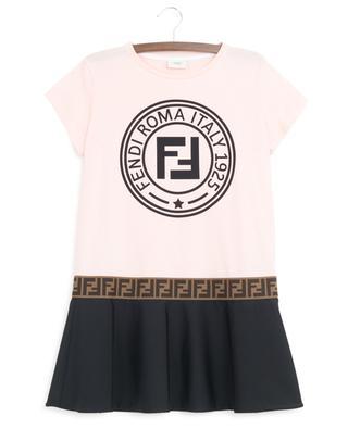 Materialmix-Kleid FF Fendi Stamp FENDI