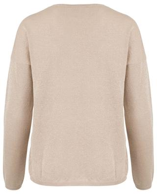 Seacell and Lurex V-neck jumper FTC CASHMERE
