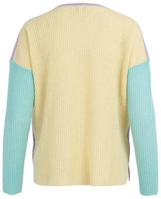 Pastel colour block cashmere jumper FTC CASHMERE