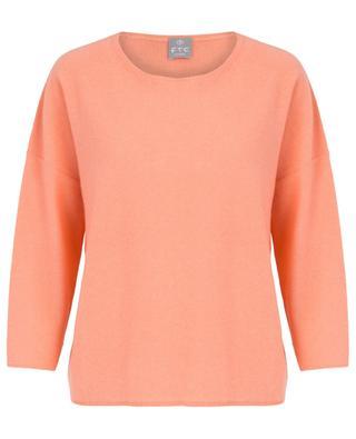 Leichter Moosstrick-Pullover aus Kaschmir FTC CASHMERE
