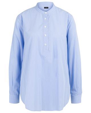 Gestreiftes Hemd aus Baumwolle mit Mandarinkragen Luke JOSEPH