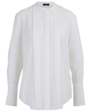 Cristo ribbed silk shirt with Mandarin collar JOSEPH
