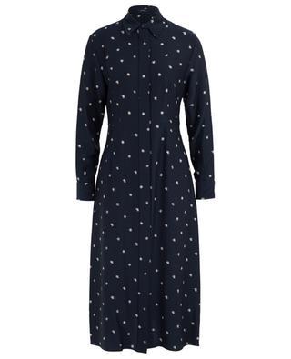 Turner Scribble Spot ribbed silk shirt dress JOSEPH