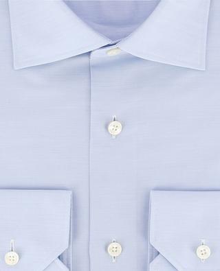 Slim-Fit Hemd aus texturierter Baumwolle Trofeo ERMENEGILDO ZEGNA
