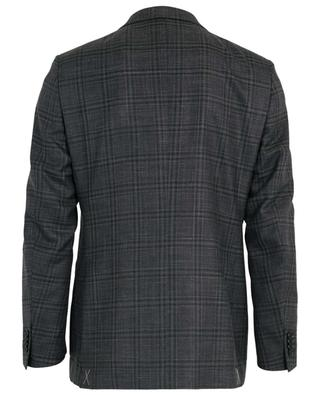 Check wool, silk and linen blazer ERMENEGILDO ZEGNA