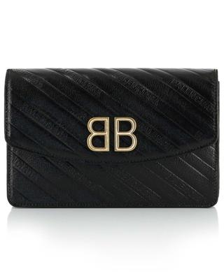Mini sac porté épaule gaufré BB Wallet On Chain BALENCIAGA