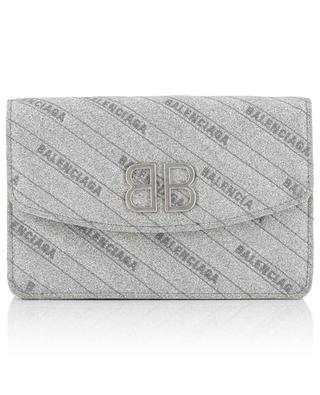 Brieftasche mit silbriger Kette BB BALENCIAGA